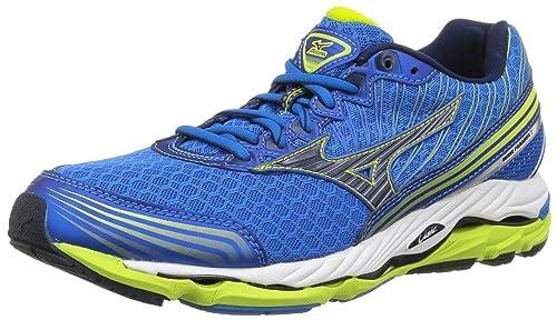 c2a652cbc6f2 Mizuno Wave Paradox 2, Men's Running Shoes, Blue (Electric Blue/Lemonade)
