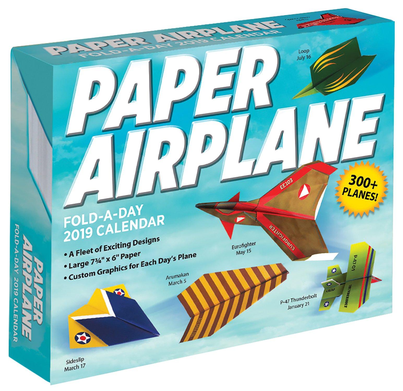 Paper Airplane Fold-a-Day 2019 Calendar