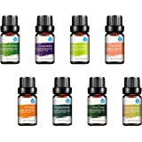 :Pursonic 100% Pure Essential Aromatherapy Oils Gift Set-8 Pack, 10ML Eucalyptus, Lavender, Lemongrass, Mandarin, Orange…