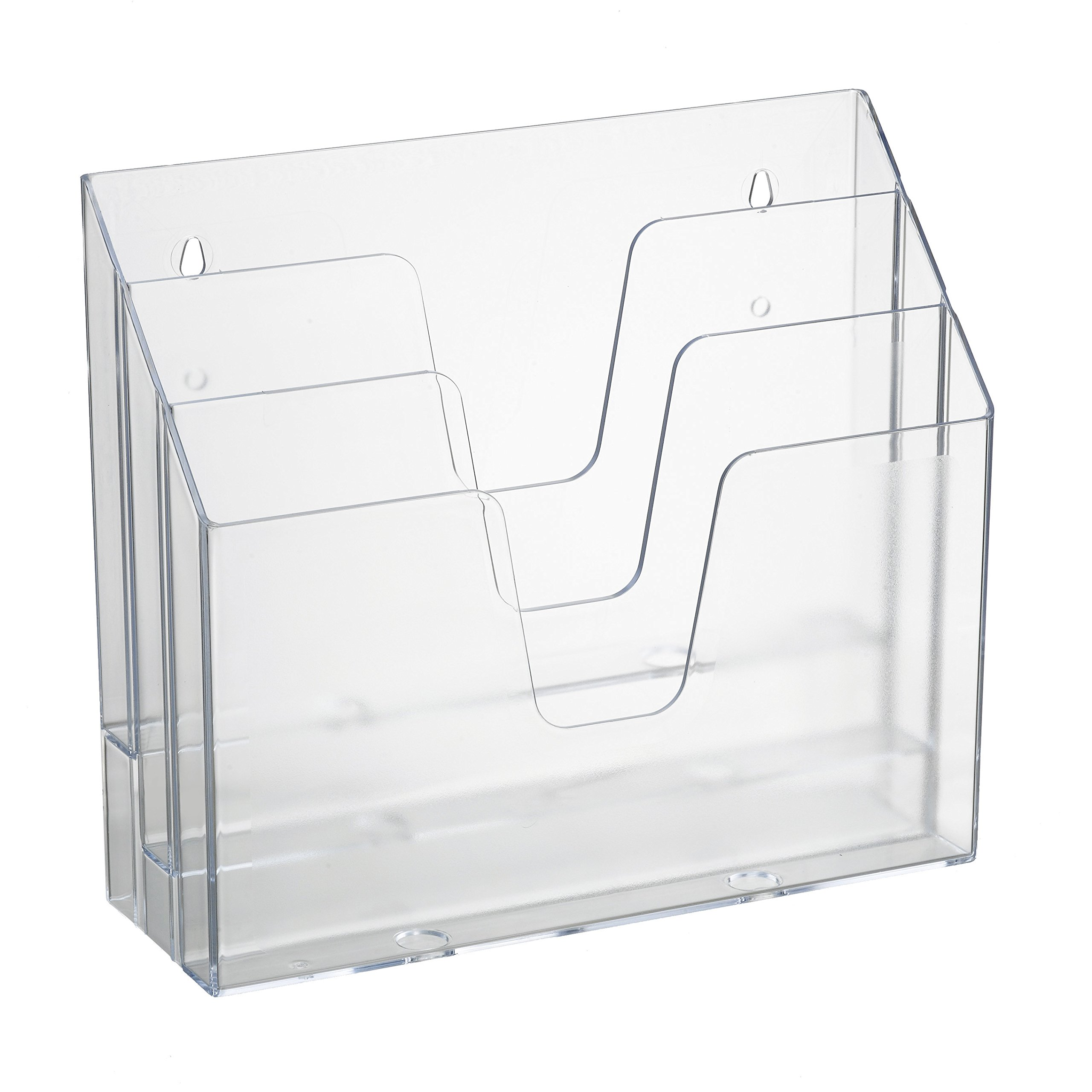 Acrimet Horizontal Triple File Folder Organizer (Clear Crystal Color) by Acrimet