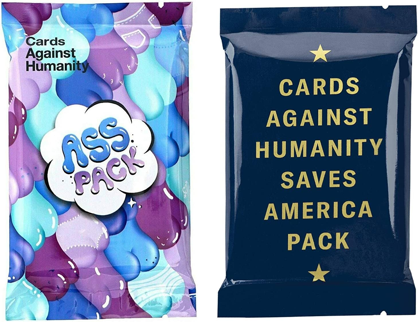 Cards Against Humanity Ass & Saves America Packs