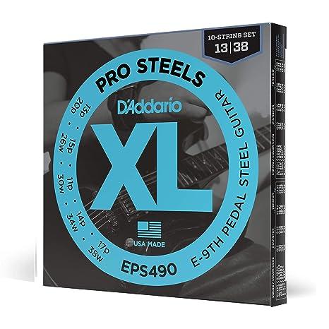 DAddario Eps490 Esmalte Directo Sobre Galvanizado Galvaproa Cuerdas