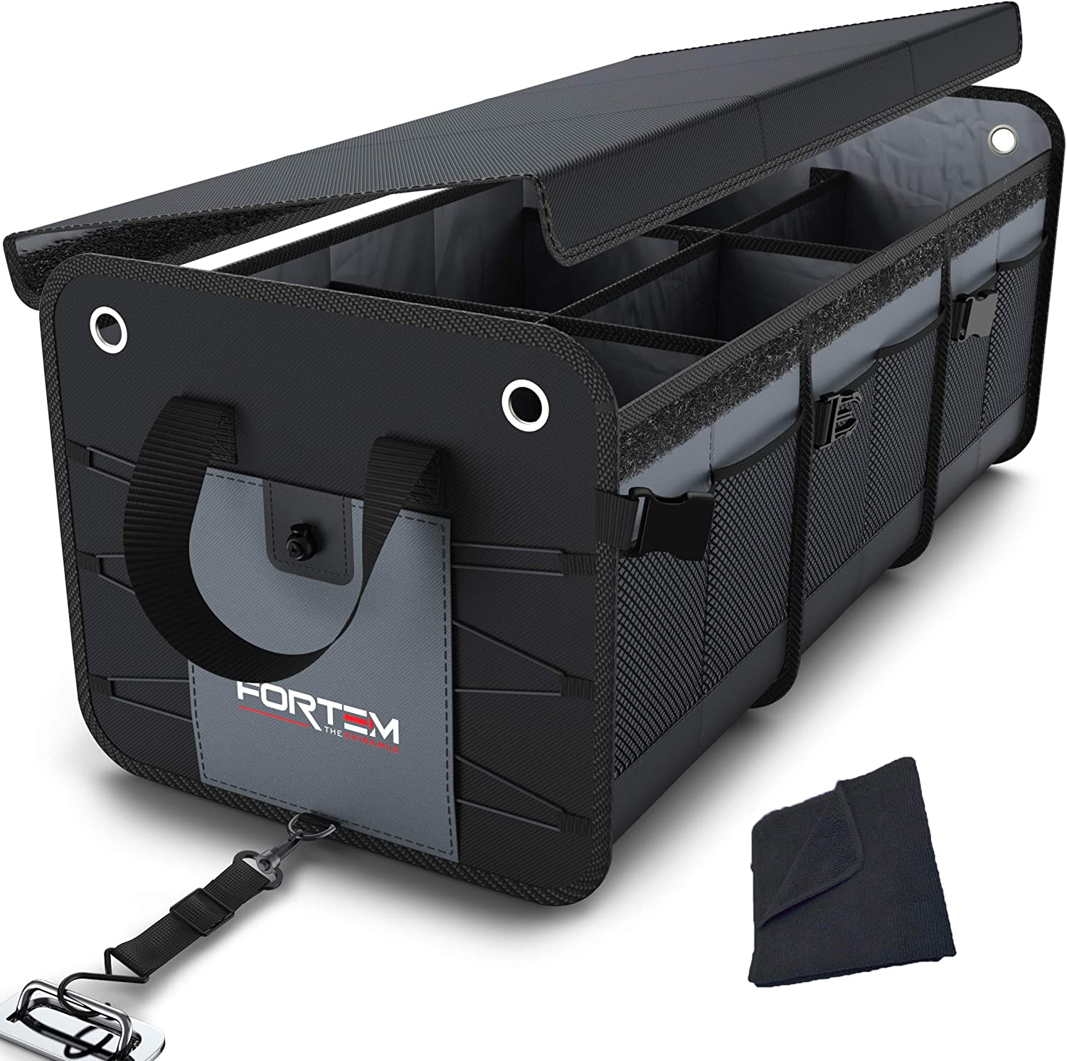Fortem Car Trunk Organizer With Foldable Cover