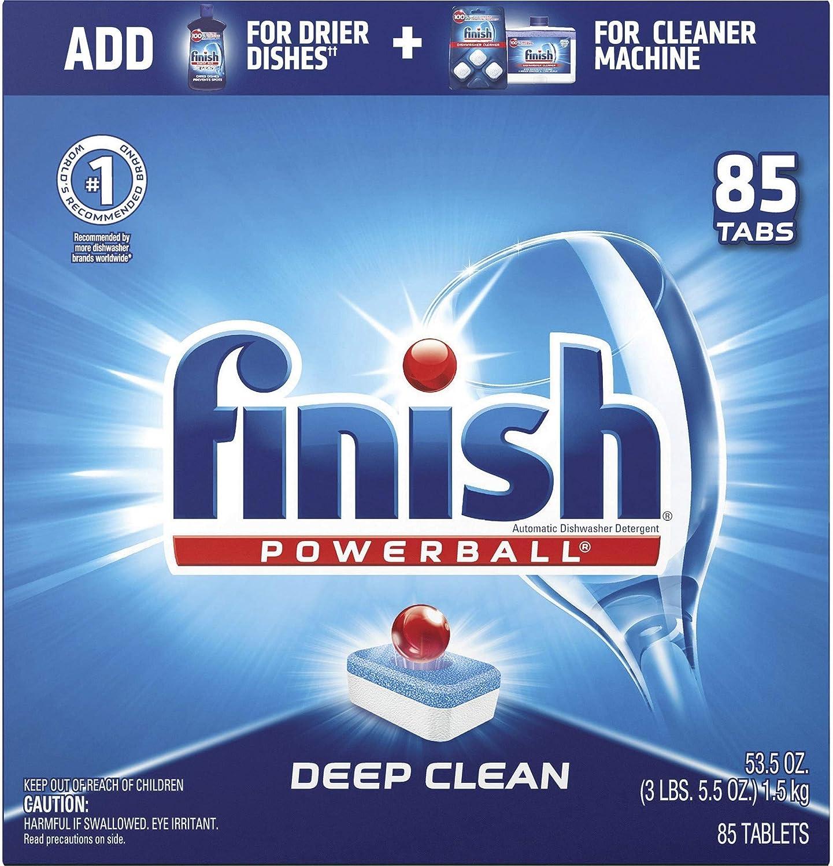 Finish洗碗錠,85錠~MIELE/BOSCH原廠推薦使用的洗碗碇 Finish - All in 1-85ct - Dishwasher Detergent - Powerball - Dishwashing Tablets - Dish Tabs - Fresh Scent