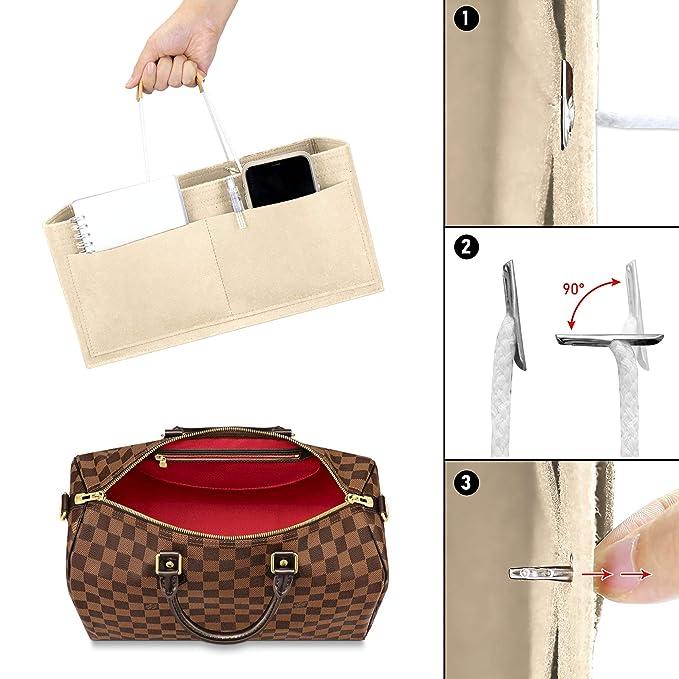 DONPEREGRINO Organizador de Bolso de Fieltro de Mujer, Organizadores de Bolsos Bag in Bag con Bolsillos de Cremallera