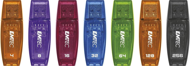 ECMMD8GC410 Emtec 8GB Color Mix USB Black//Purb