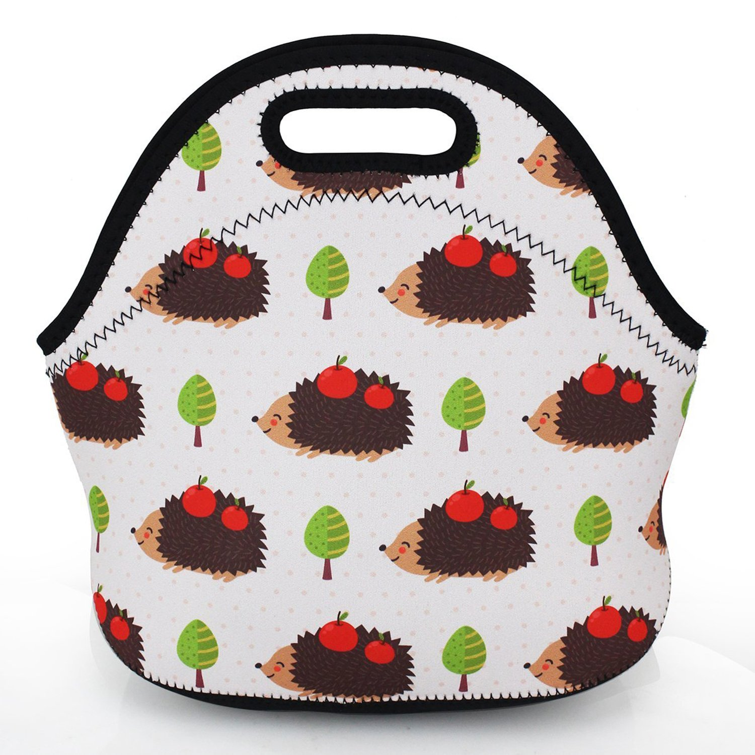 ZMvise Apple Hedgehog Lunch Tote Insulated Reusable Picnic Lunch Bags Boxes Men Women Kids Toddler Nurses Travel Bag