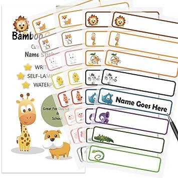 amazon com baby bottle labels for daycare school waterproof