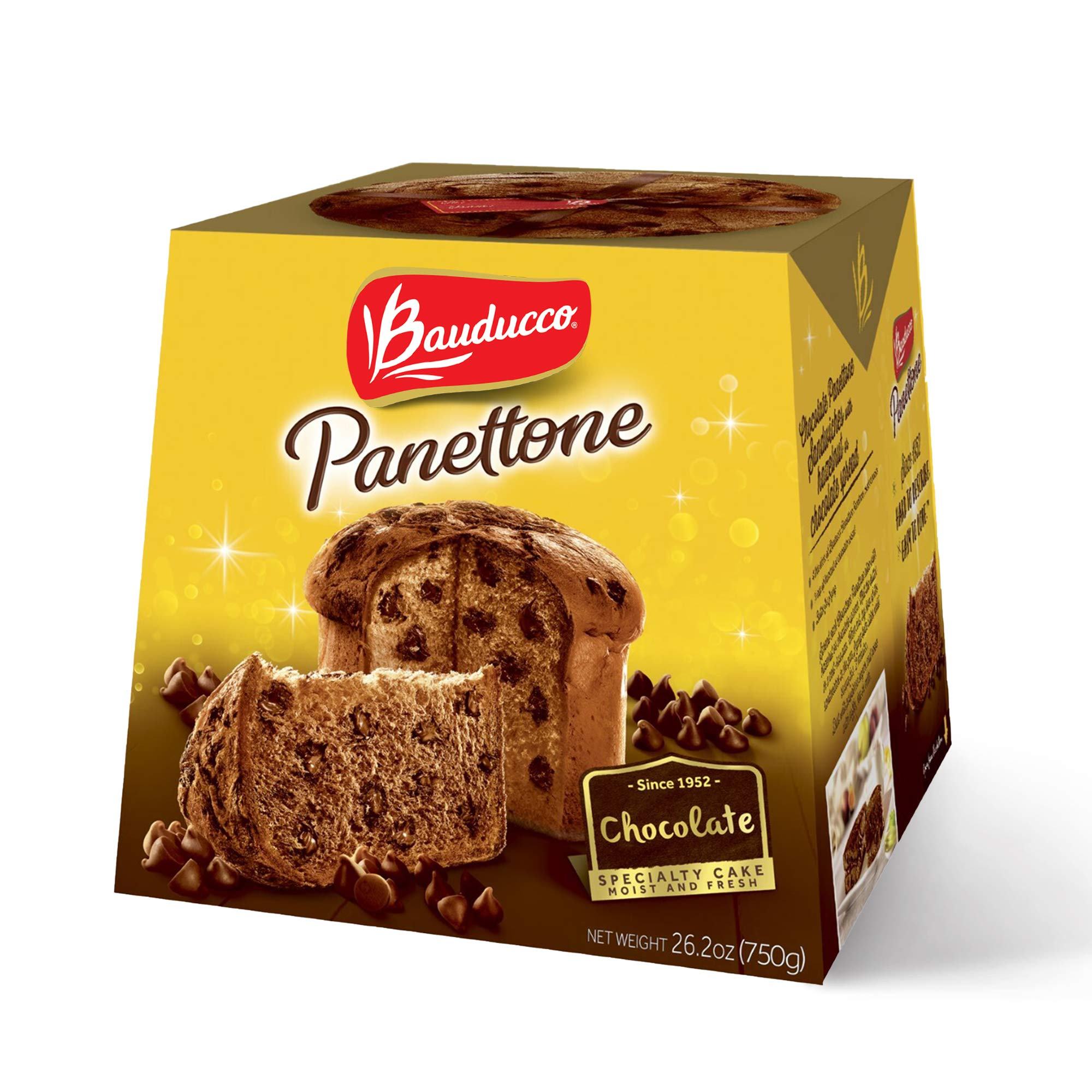 Bauducco Panettone Chocolate, Moist & Fresh, Traditional Italian Recipe, Italian Traditional Holiday Cake, 26.2oz