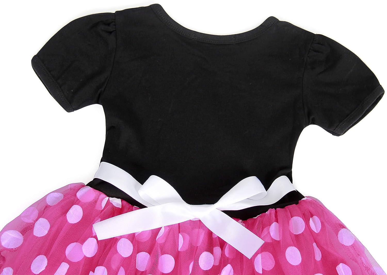 AmzBarley Vestito A Pois Bambina Principessa Tutu Abitini Ragazza Vestiti Costume Festa Compleanno Halloween Cosplay Abiti Fascia per Capelli