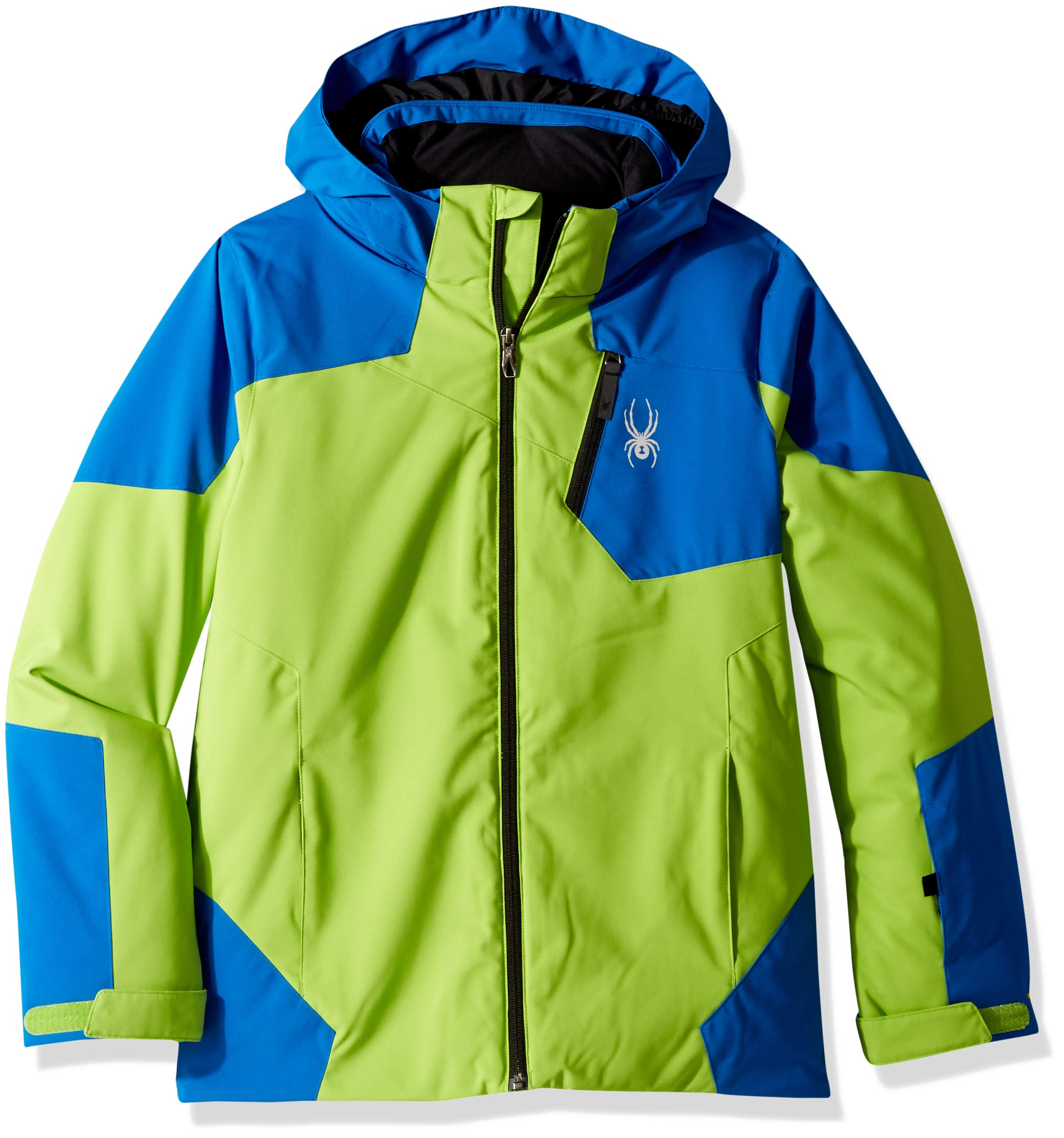 Spyder Boys' Chambers Ski Jacket, Fresh/Turkish Sea/Black, Size 8