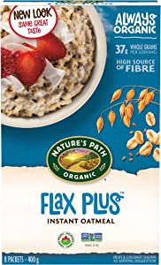 Organic Hot Oatmeal Flax Plus 8 Packets