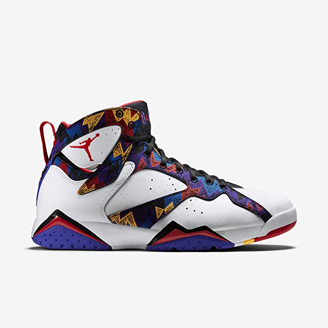 sports shoes f58dc 7502f Amazon.com   Nike Mens Air Jordan 7 Retro Sweater White University Red-Bright  Concord Leather Size 12.5   Basketball