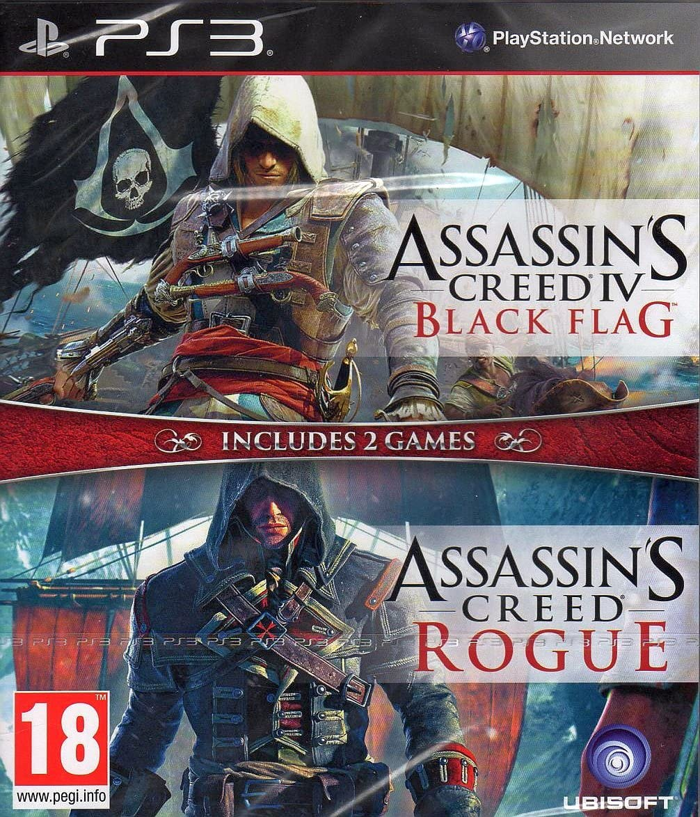 Assassins Creed IV 4 Black Flag & Rogue Double Pack PS3 Game ...