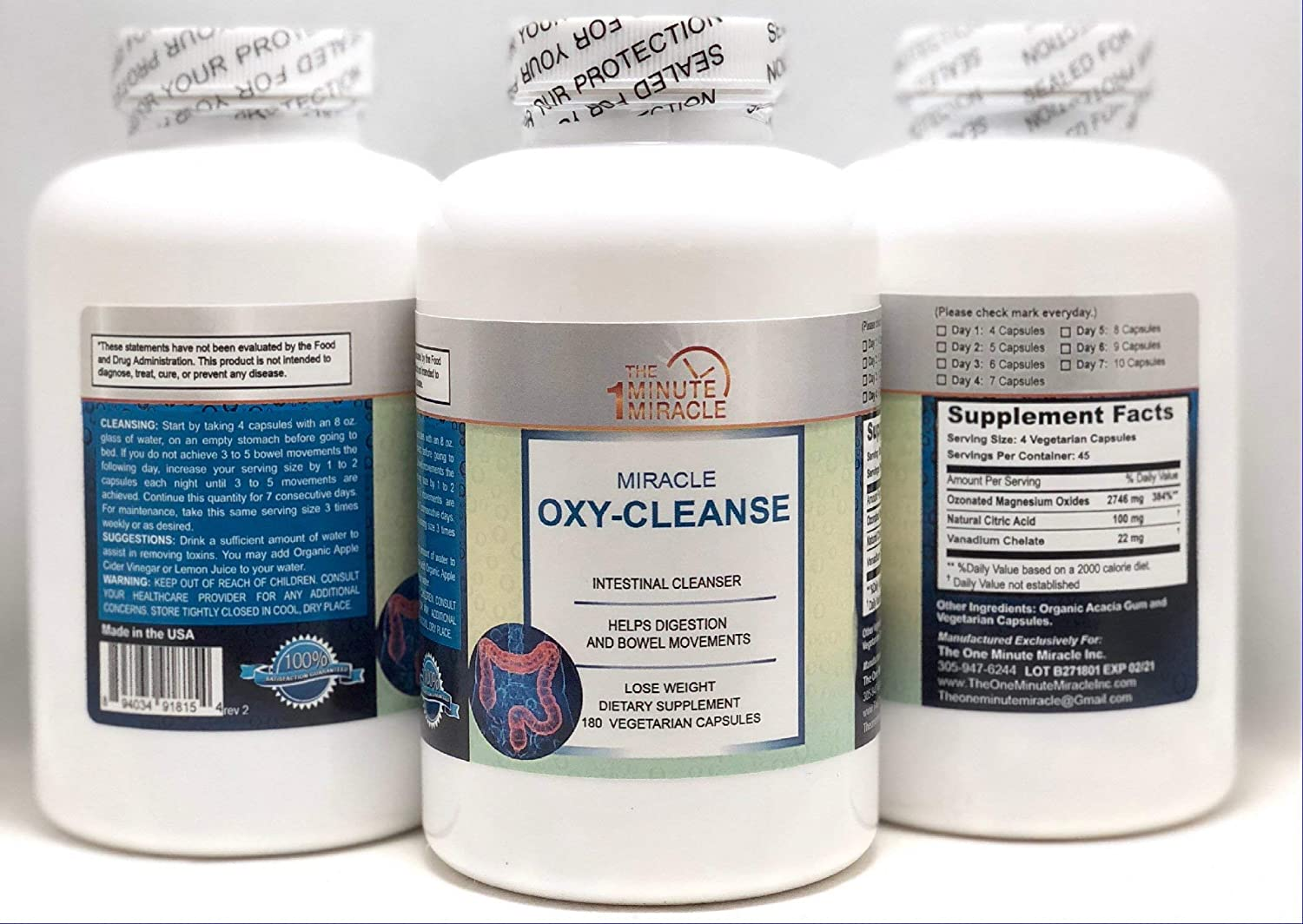 OXY-Cleanse – Colon Cleanser – Super Value 180 Capsules