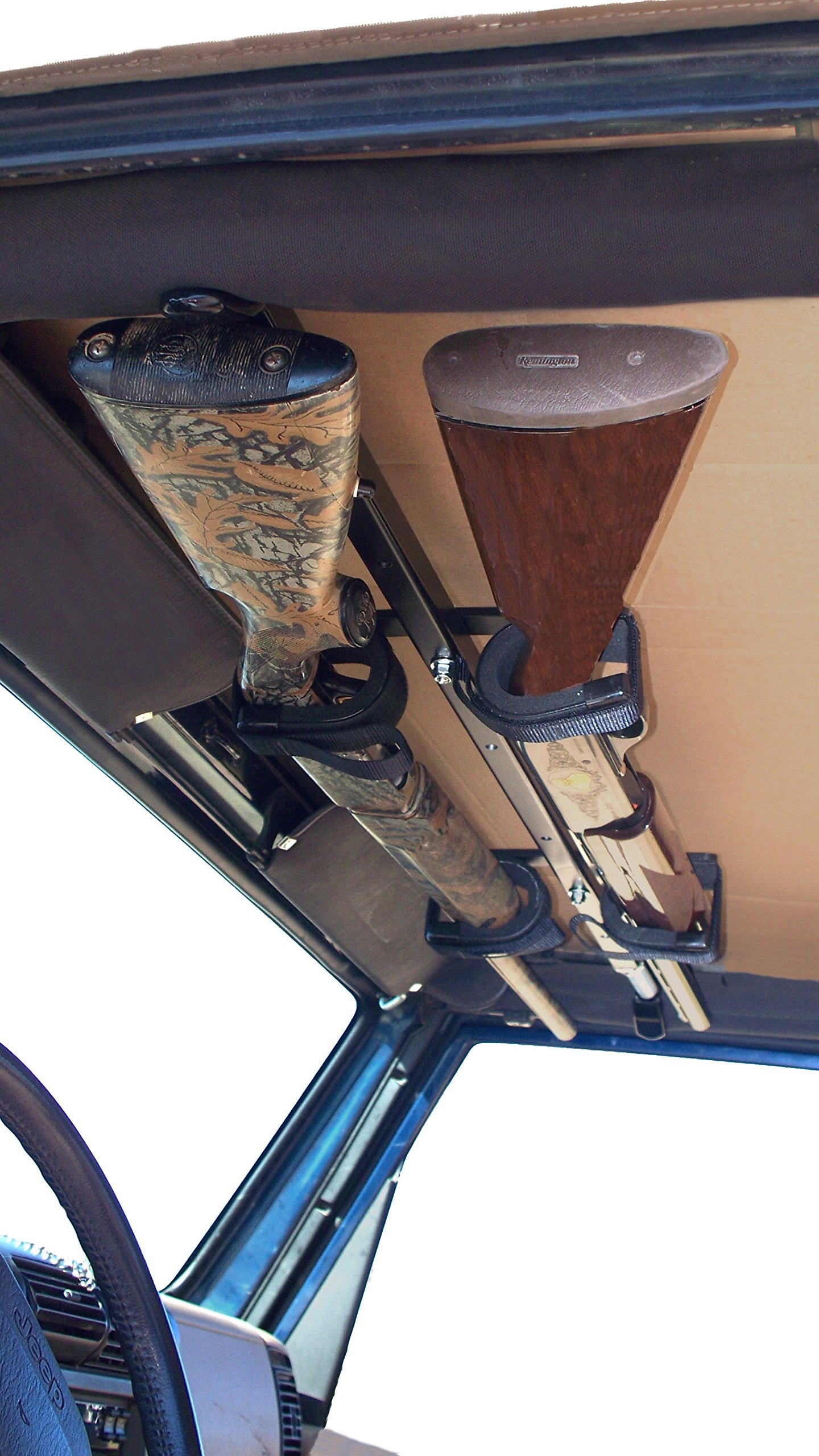 Quick-Draw Overhead Gun Rack For JEEP 42''-48'' Rollbar Depth By Great Day QD857-OGR-JEEP by Great Day (Image #1)