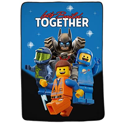 "Franco Kids Bedding Super Soft Blanket, Twin/Full Size 62"" x 90"", Lego Movie 2: Home & Kitchen"