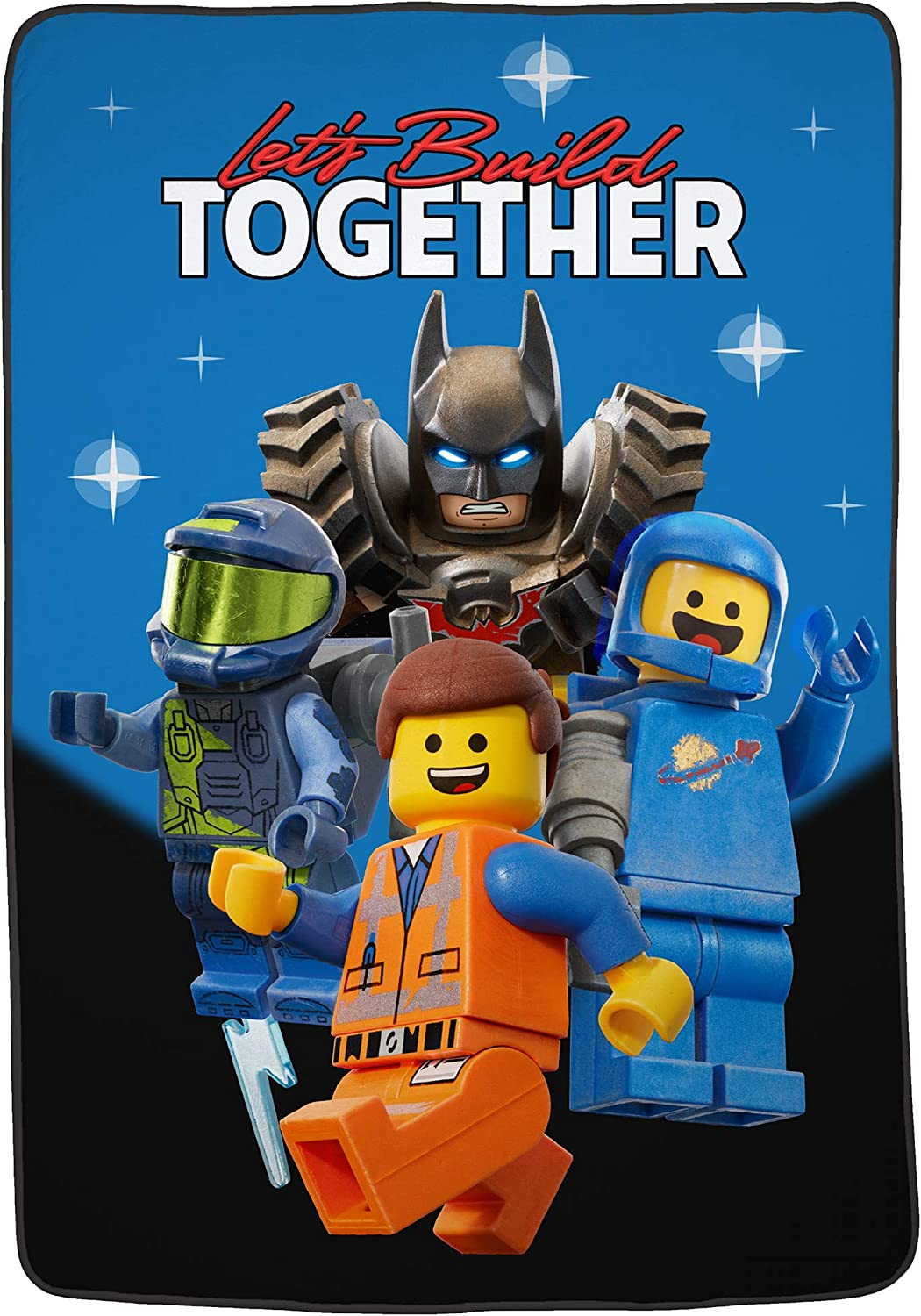 "Franco Kids Bedding Super Soft Plush Microfiber Blanket, Twin/Full Size 62"" x 90"", Lego Movie 2"