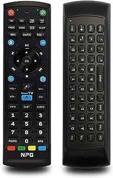 Mando a Distancia para NPG Smart TV de reemplazo Smart Control con Teclado QWERTY, Función Motion Air Mouse + IR