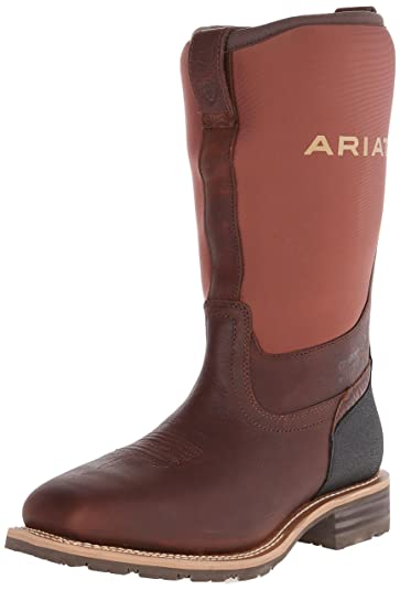 Amazon.com | Ariat Men's Hybrid All Weather Steel Toe Western ...