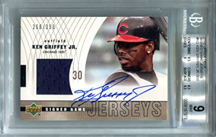 cfd9e5ca0d Ken Griffey Jr AUTO Signed Game Jerseys Swatch 2003 Upper Deck ...