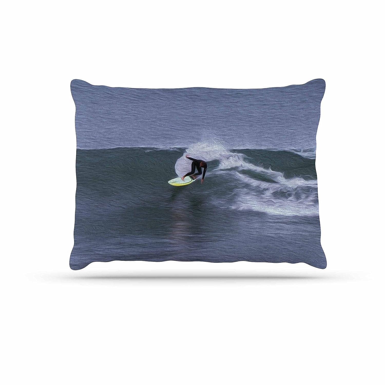 KESS InHouse Nick Nareshni Florence  Hillside bluee Photography Dog Bed, 50  x 40
