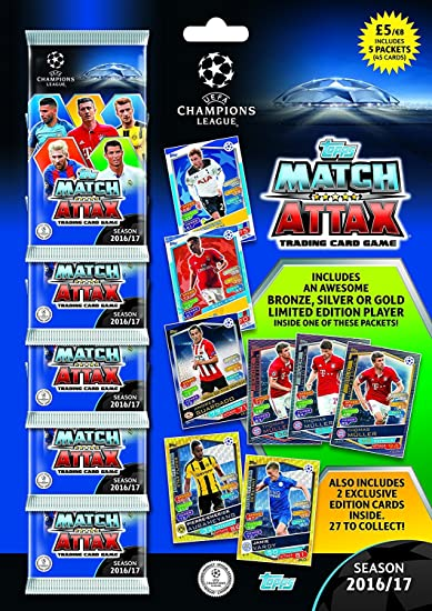 Topps 2016/17 Champions League Match Attax Multipack, Multi Color_New