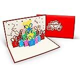 Überraschende Geburtstagskarte für Glückwunsch & Jubiläum - hochwertige 3D Pop-Up Karte zur Gratulation zum Geburtstag - tolle Glückwunschkarte für Geburtstags-Grüße