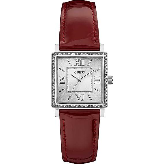Guess Reloj Análogo clásico para Mujer de Cuarzo con Correa en Cuero W0829L2: Guess: Amazon.es: Relojes