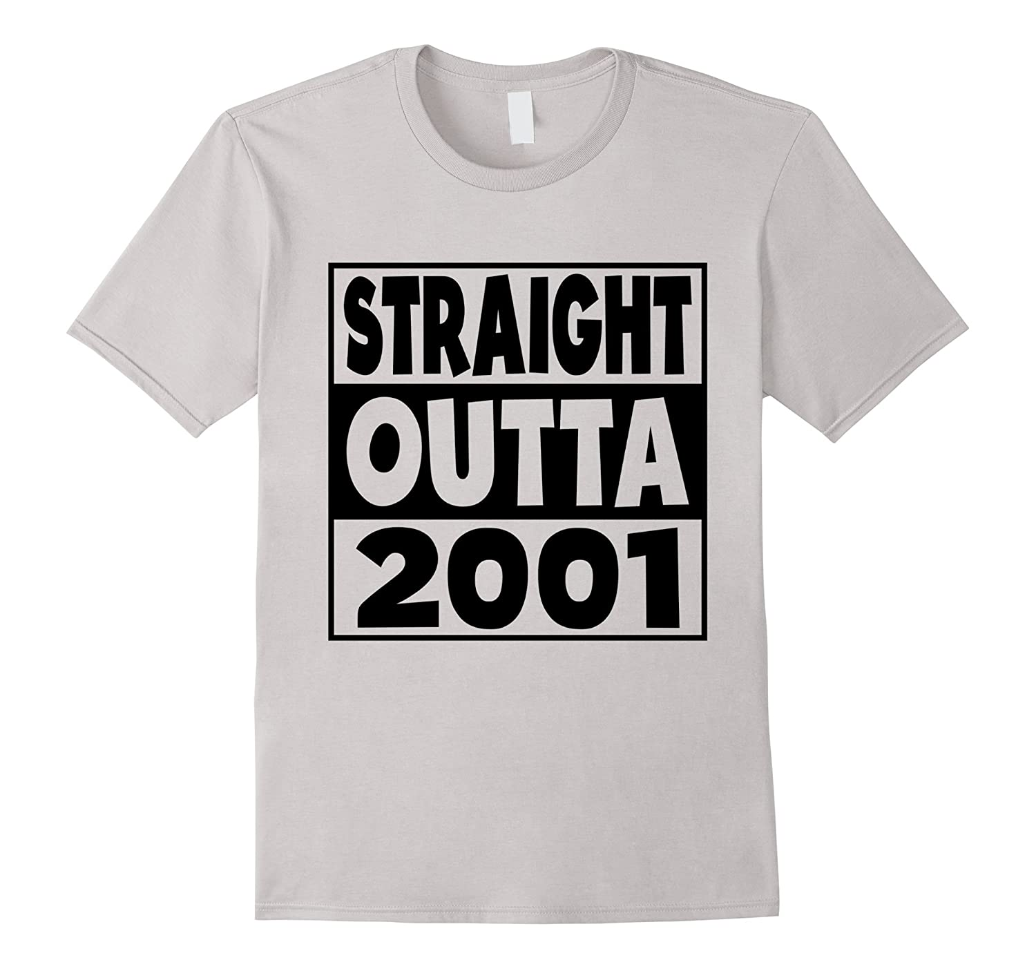 16th Birthday Gift T-Shirt Straight Outta 2001 White-TH