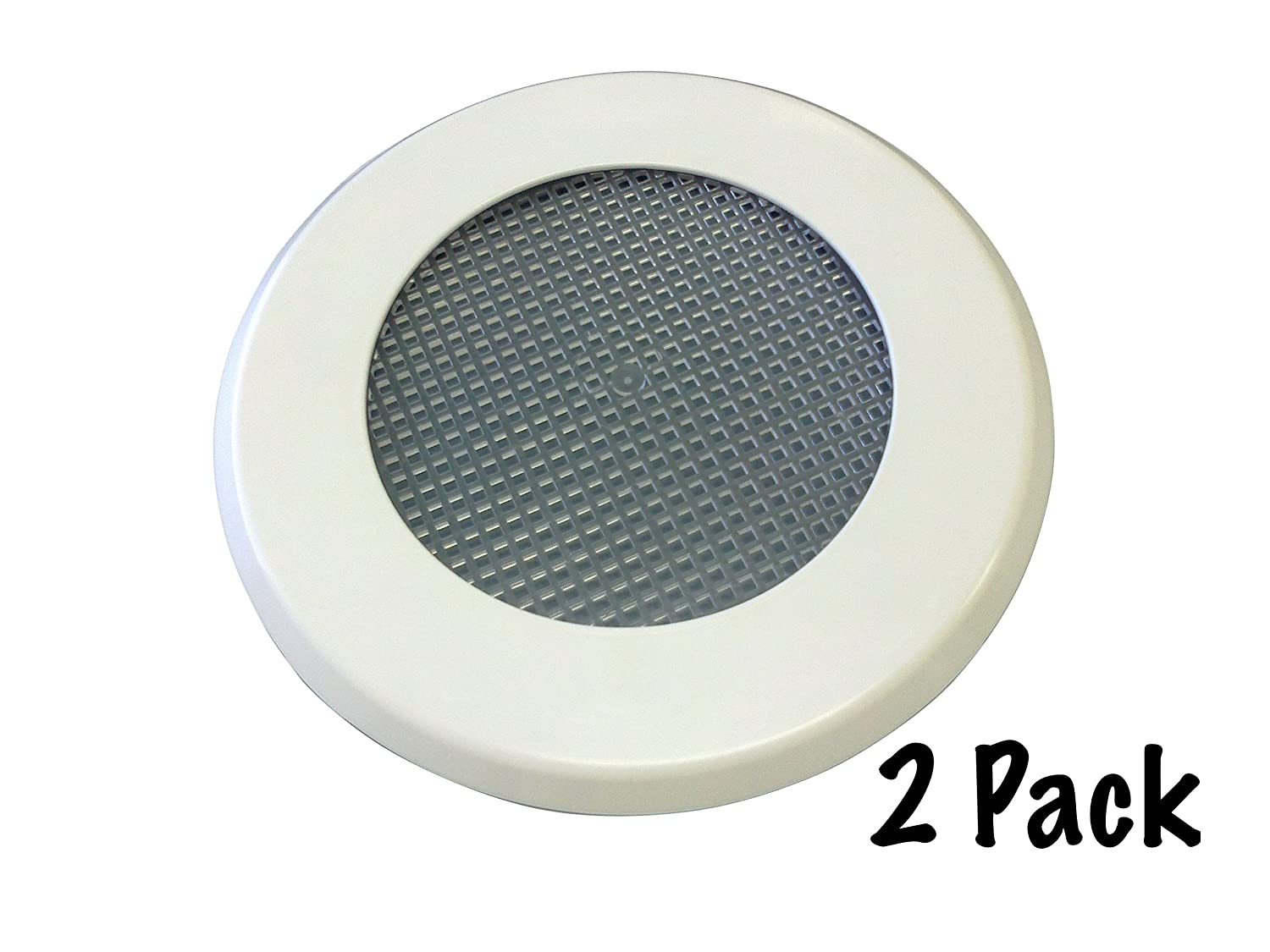 Amazon.com : Turner Light Covers Recessed Light Cover Replacement Kit With  Mounting Ring, Trim Plate And Screen, White (2 Pack) : Patio, Lawn U0026 Garden