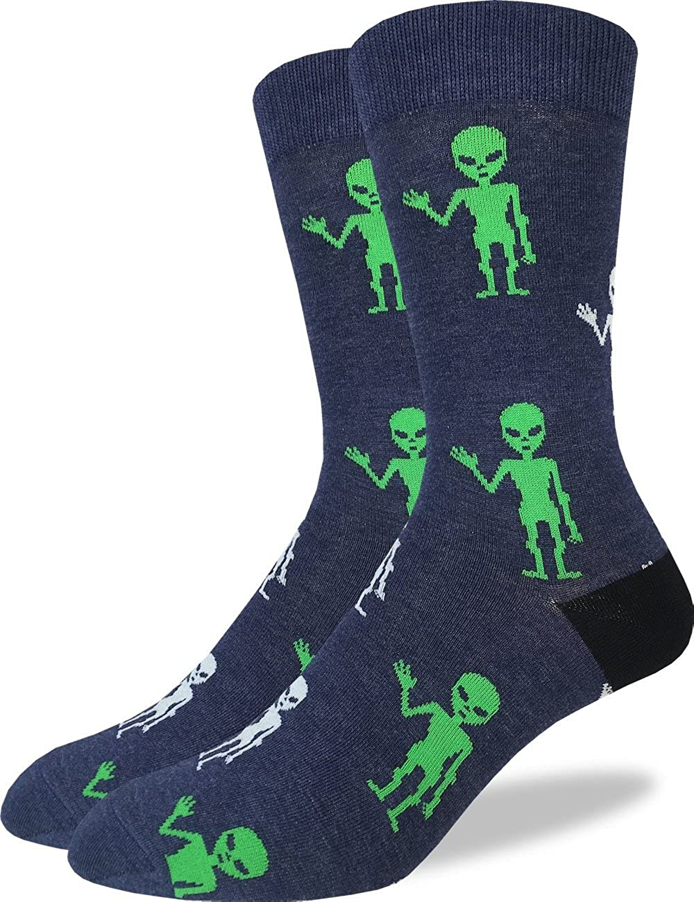 Good Luck Sock Men's Extra Large Aliens Socks - Shoe Size 13-17, Big & Tall 2024