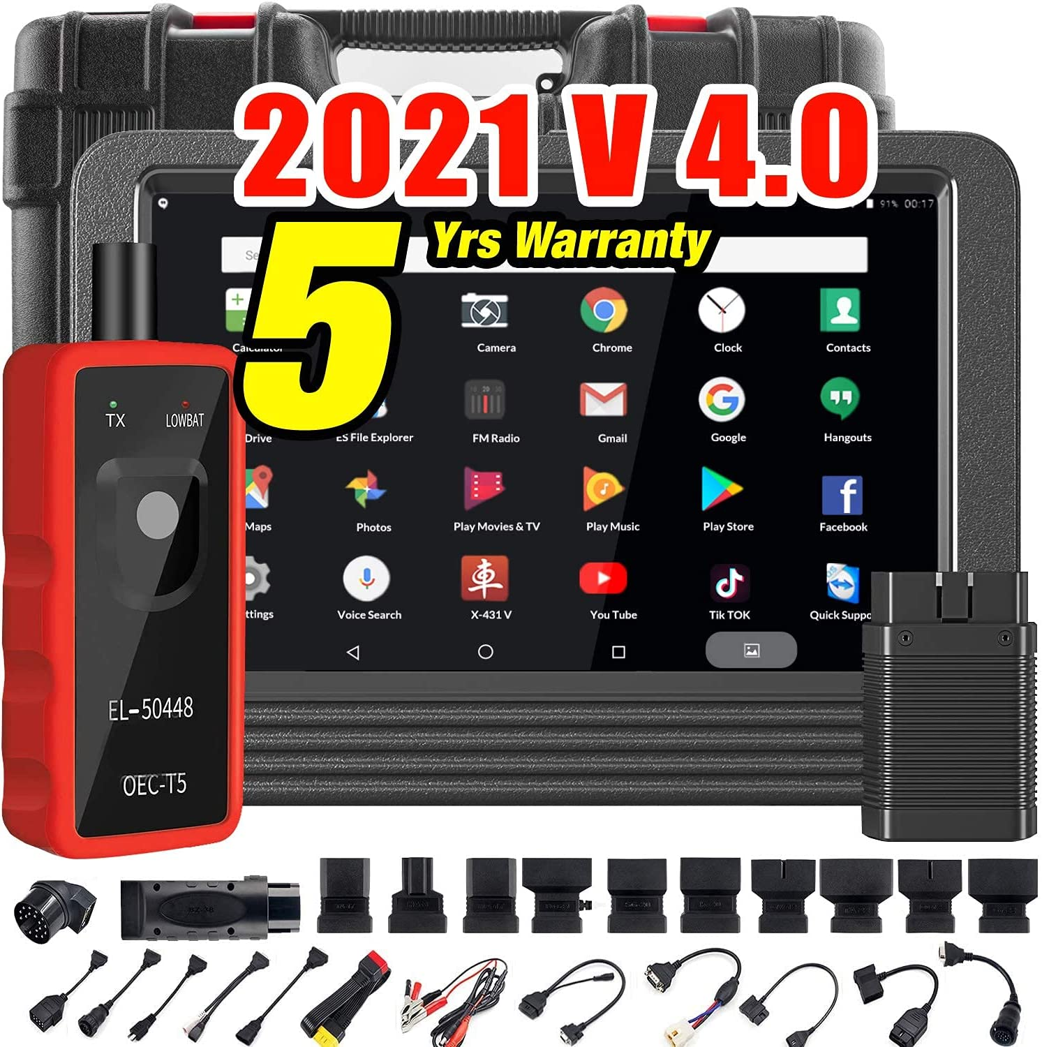 Launch X431 V PRO (2021 V 4.0) Bi-Directional Scanner Full Systems Diagnostic Scan Tool 31+ Reset Functions Key Programming, Variant Coding, AutoAuth for FCA SGW, 2 Years Update-EL-50448 TPMS Tool