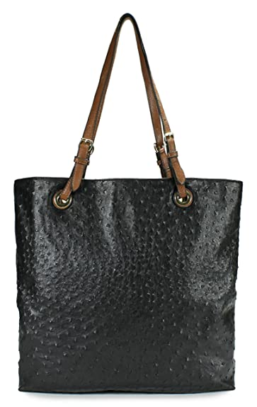 Scarleton Ostrich Large Tote H115601 - Black: Handbags: Amazon.com