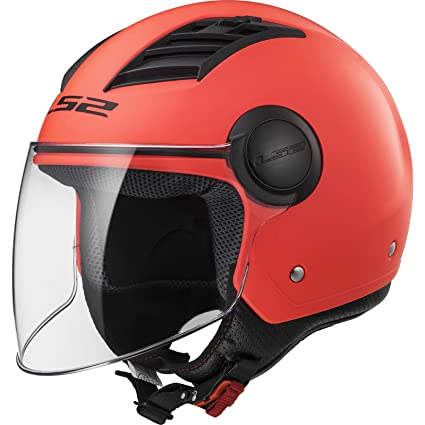 LS2 Casco Moto of562 Airflow, Matt Orange Long, XL