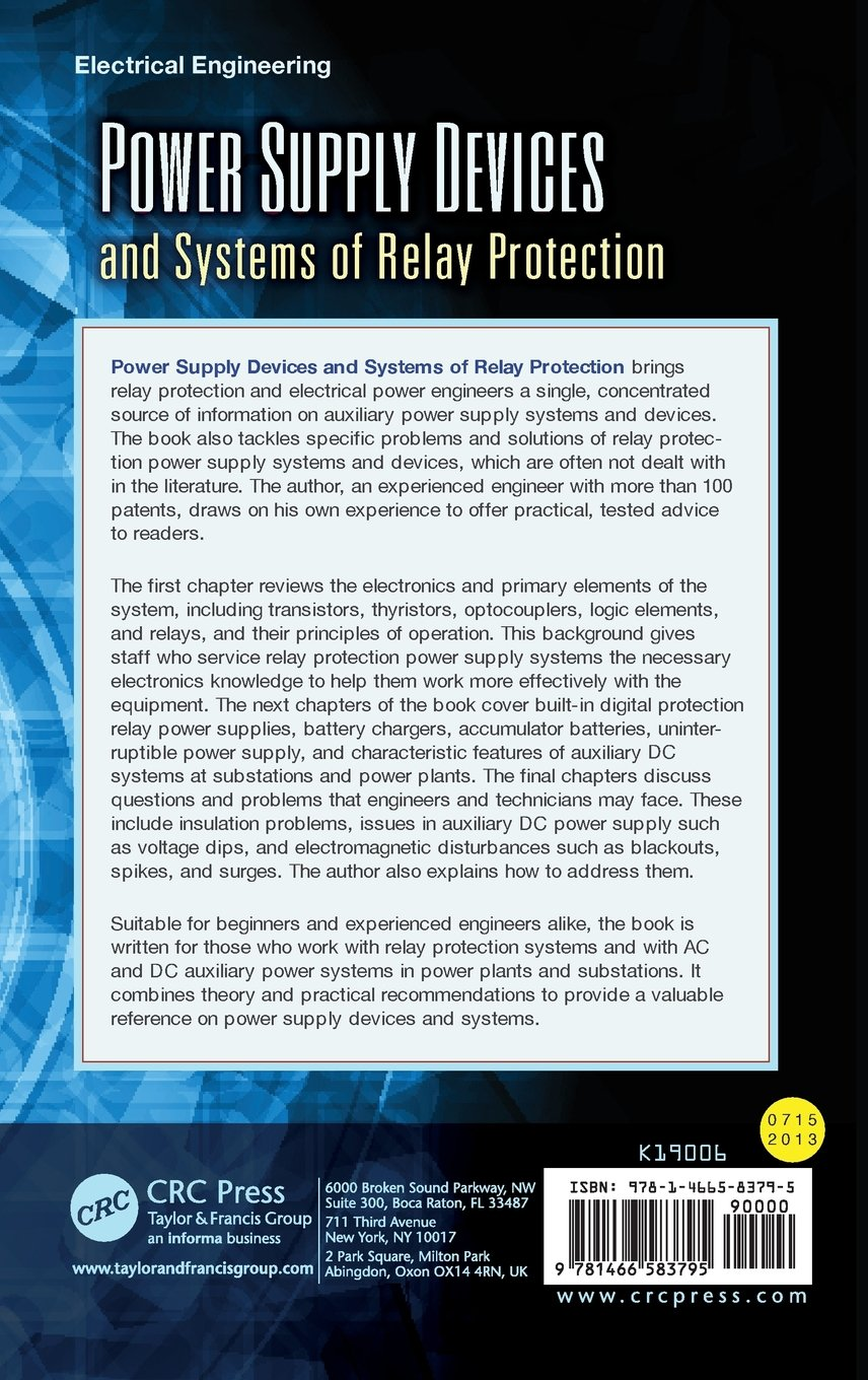Buy Power Supply Devices And Systems Of Relay Protection Book Online Electrical Uk At Low Prices In India Reviews