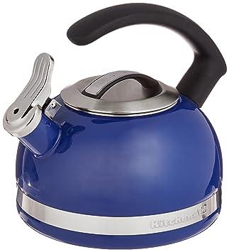 kitchenaid tea kettle. kitchenaid kten20cbdb 2.0-quart kettle with c handle and trim band - doulton blue kitchenaid tea t