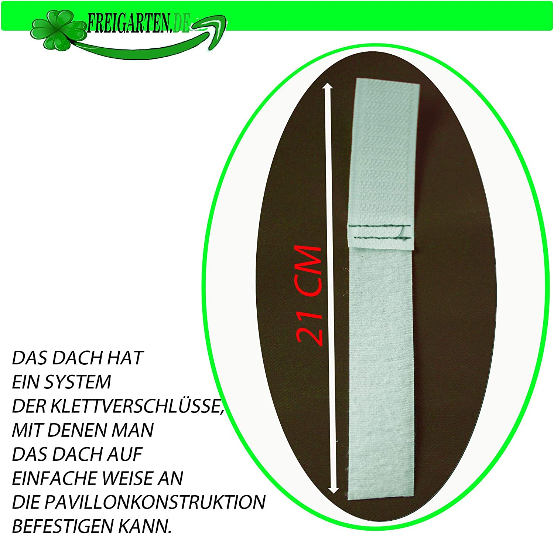 Impermeabile Esagonale Frearten.de 320 cm Materiale: Panama PCV Soft 370 G//M2 Marrone Modello 8 Tetto di Ricambio per Gazebo Modena