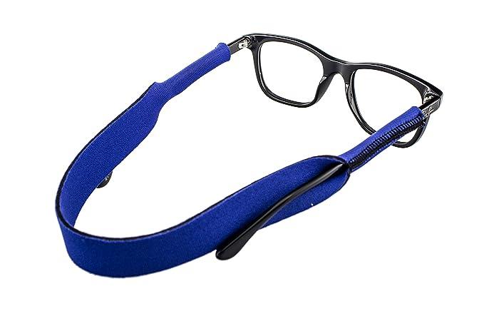 Edison&King Cordon à lunettes élastique d'env. 38cm Pour lunettes de sport Différentes couleurs - Bleu - 38 cm NCp3X2K