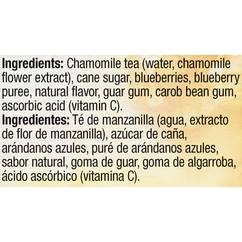 OUTSHINE Fruit & Tea Bars, Blueberry Chamomile Tea, 6 ct Box