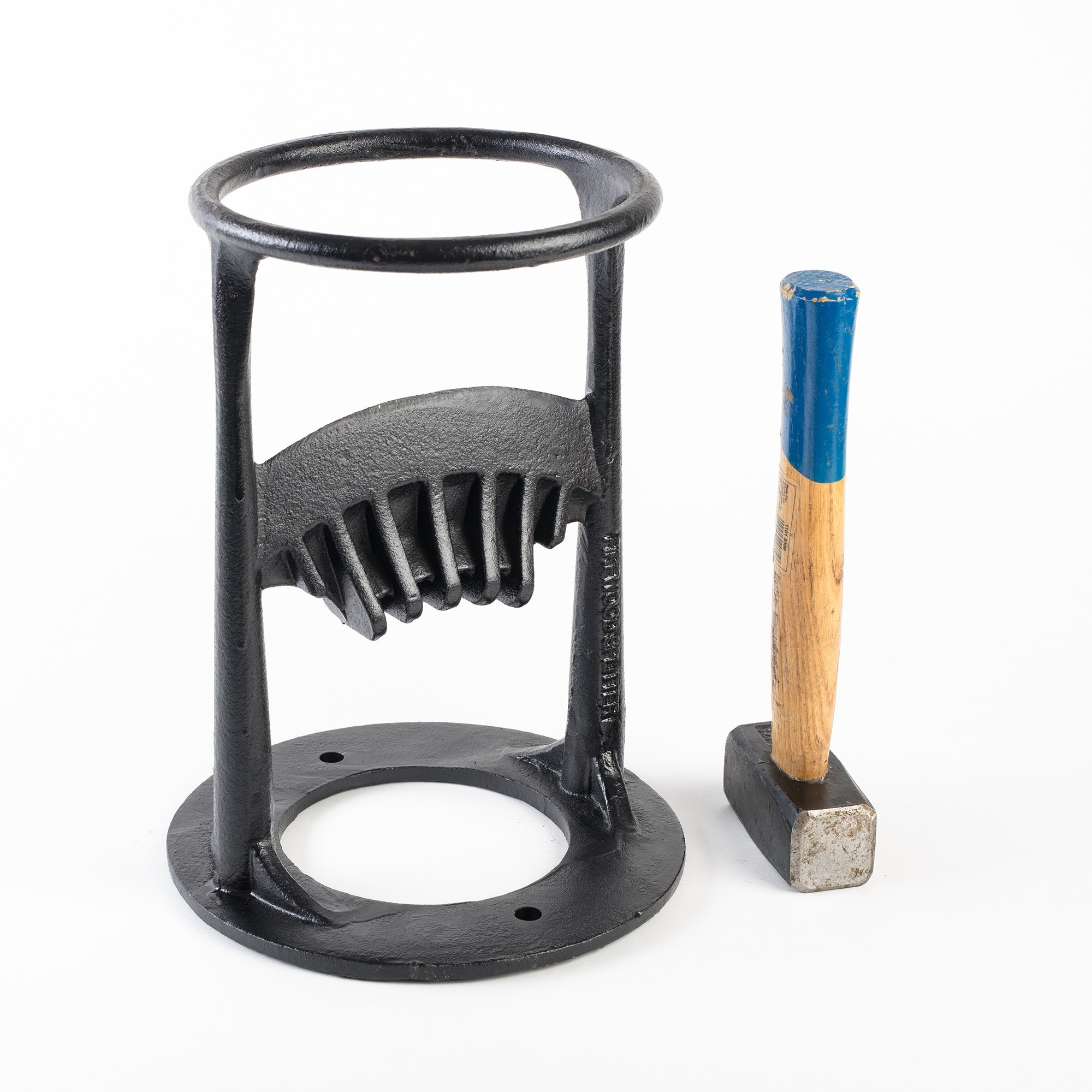 Manual Firewood and Kindling Splitter Made of Cast Iron – Safe & Easy Way to Split Logs for Wood Stove, Fireplace