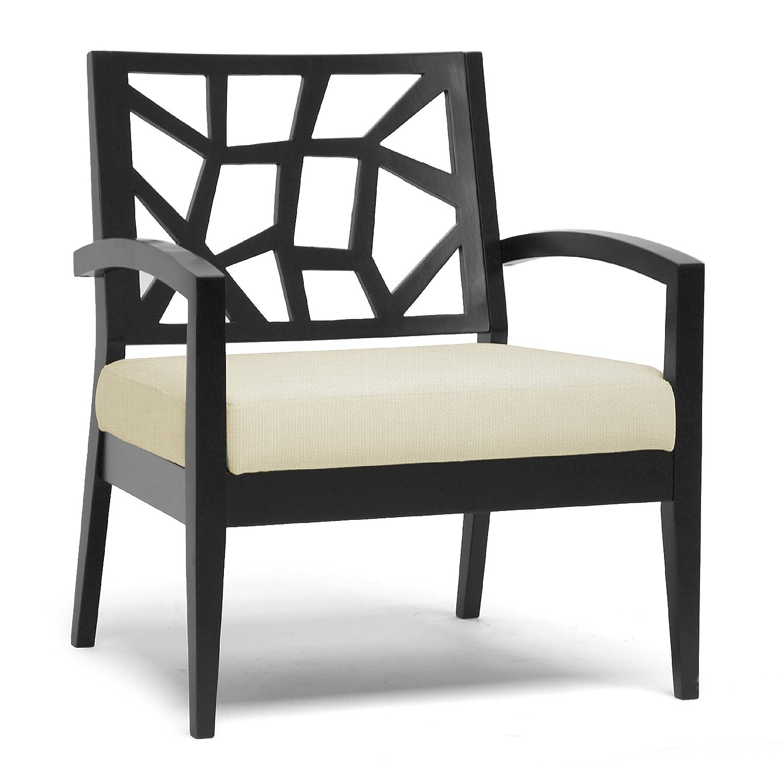 Merveilleux Amazon.com: Baxton Studio Jennifer Solid Wood Modern Lounge Chair In Cream  Twill Fabric Seat, Dark Brown: Kitchen U0026 Dining