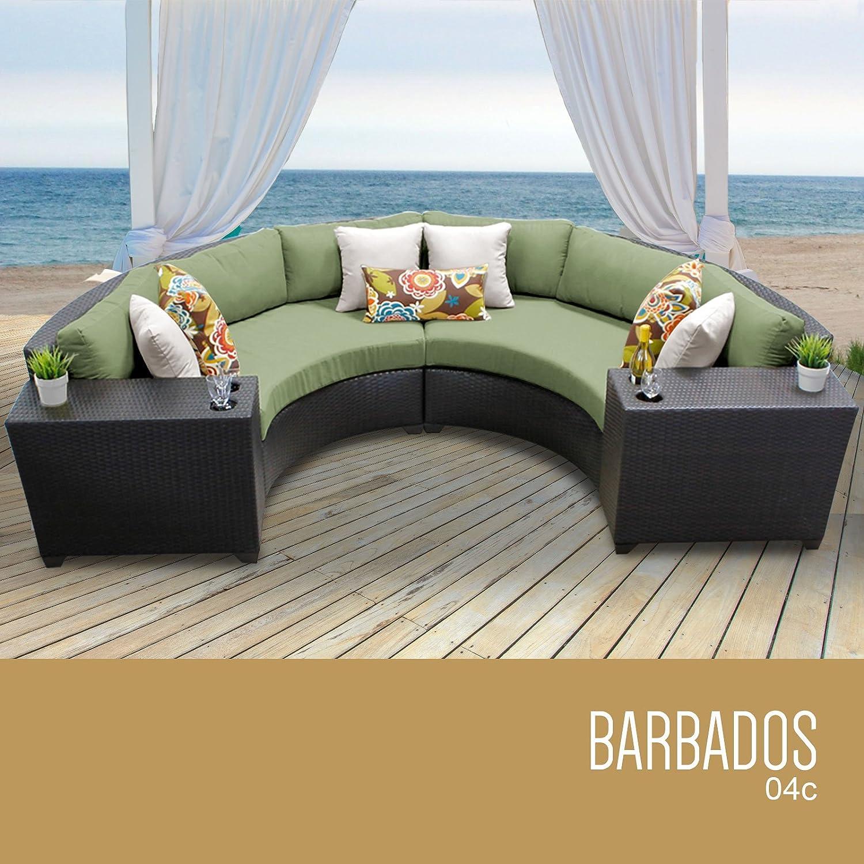 Amazon.com: TK Classics 4 Piece Barbados Outdoor Wicker Patio Furniture  Set, Aruba 04a: Patio, Lawn U0026 Garden