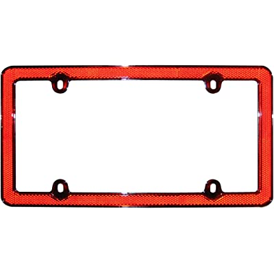 Cruiser Accessories 30436 Red Reflector II License Plate Frame, Red/Chrome: Automotive