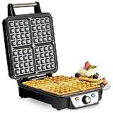 Andrew James Belgian Waffle Maker, 4 Slice, 1100 Watts