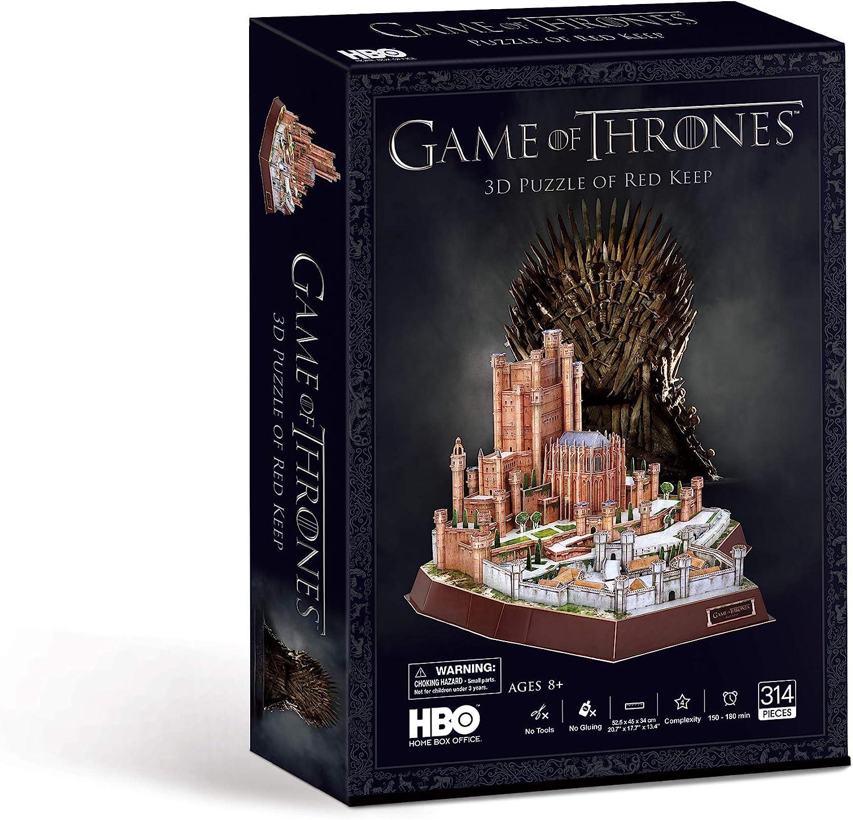 Paul Lamond- Game of Thrones Red Juego de Tronos Rojo Keep 3D Puzzle, Multicolor (7465)