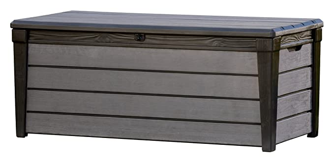 Keter - Arcón exterior Brushwood WLF, Capacidad 454 litros, Color ...