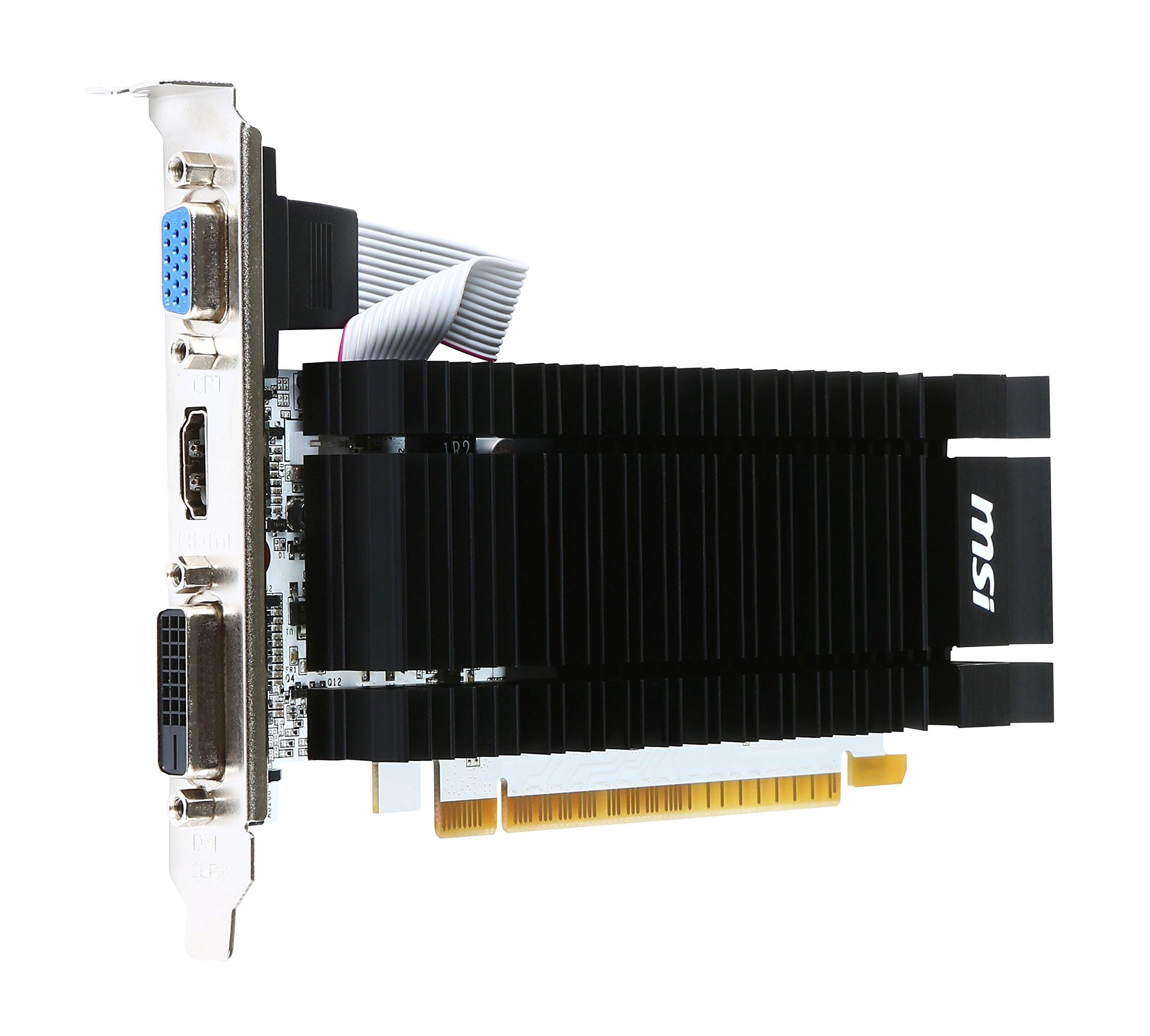 MSI Computer N730K-2GD3H/LP NVIDIA GeForce GT 730 2GB DDR3 VGA/DVI/HDMI Low Profile PCI-Express Video Card by MSI (Image #5)