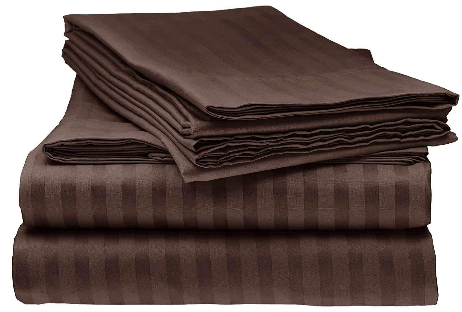 Bella kline Bedding 1800 Series 4 pc Bed Sheet Set with Pillowcases Hypoallergenic, 1 Soft Silky Luxurious Feel, Fitted and Flat Sheets Lifetime - Queen Size, Chocolate Brown