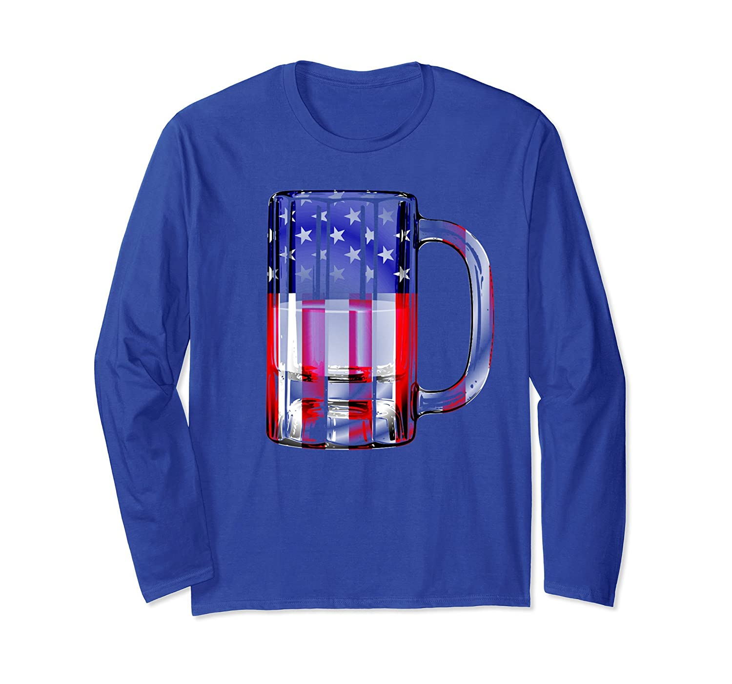 4th of July Shirt For Men Dad Beer Mug American Flag USA-AZP